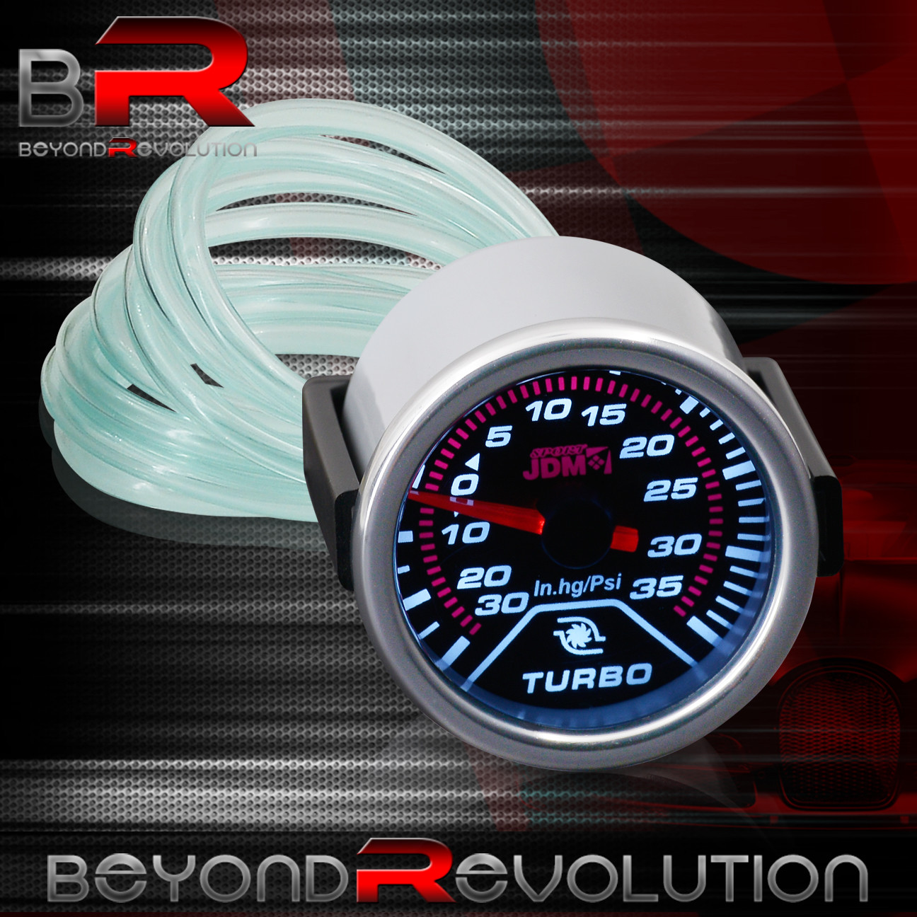 "Used Gto Procharger: 2"" TURBO BOOST GAUGE GLOW ANALOG NEEDLE CTS STS PT CRUISER"
