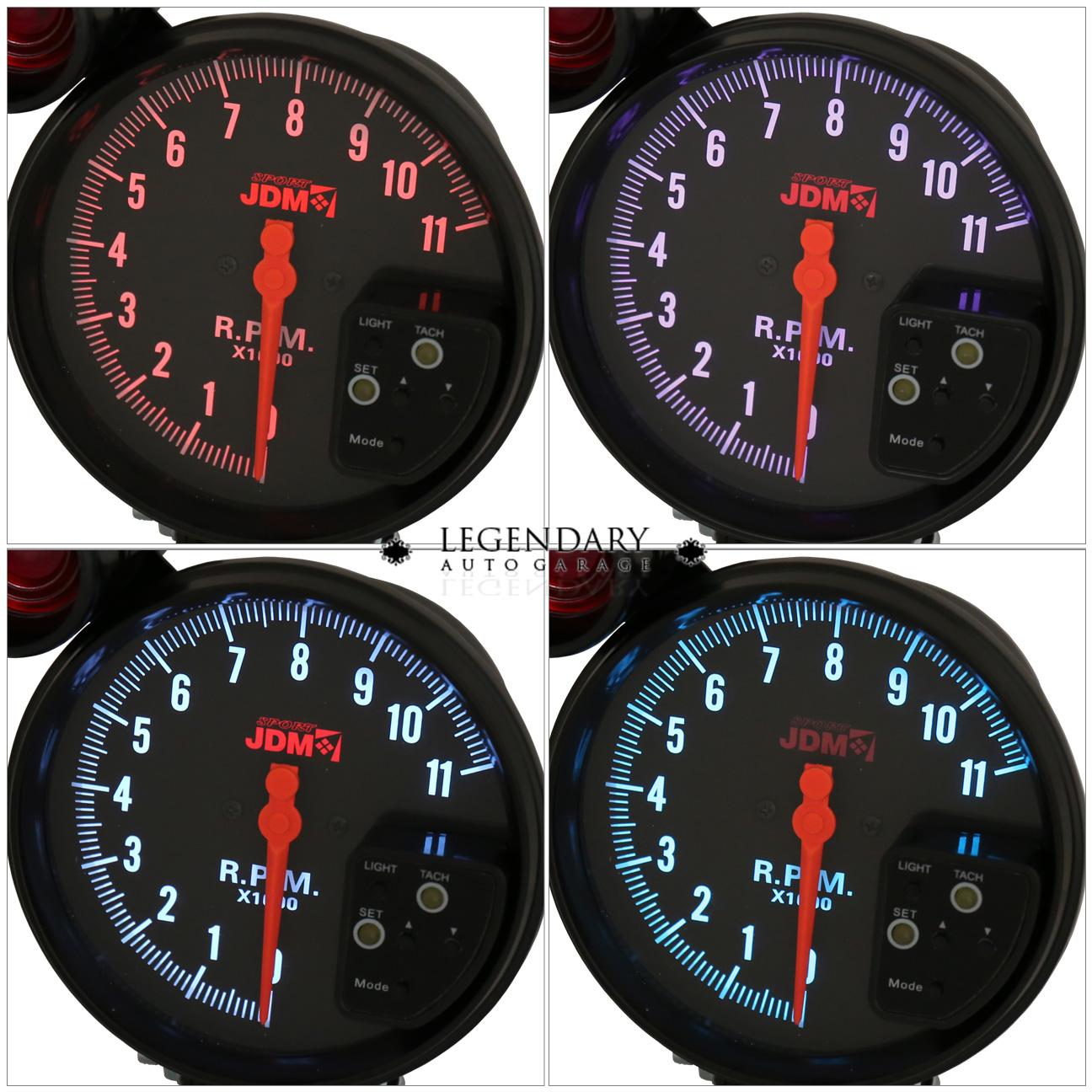Analog Meter Needle : Universal tacho tachometer rpm quot gauge meter analog
