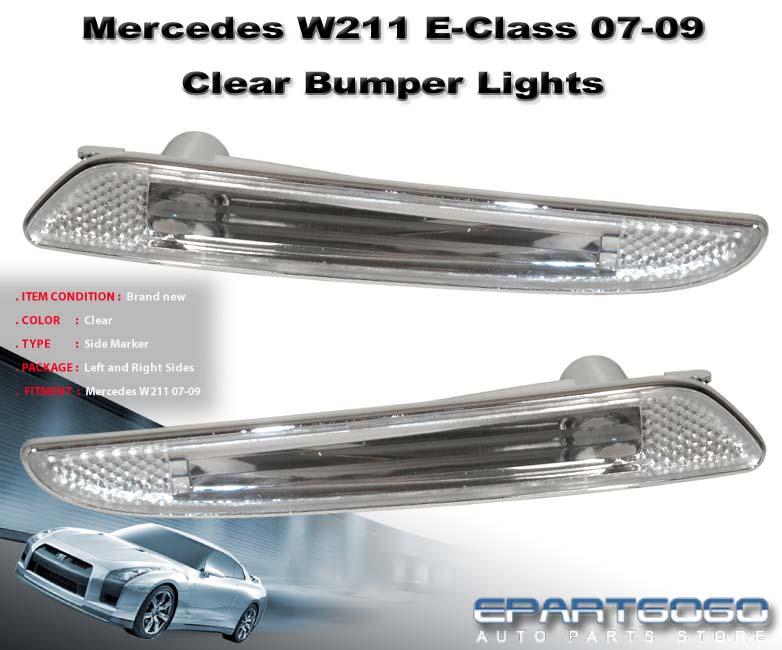 2007 2009 mercedes e320 e350 e550 w211 clear side signal for Mercedes benz 2007 e350 parts