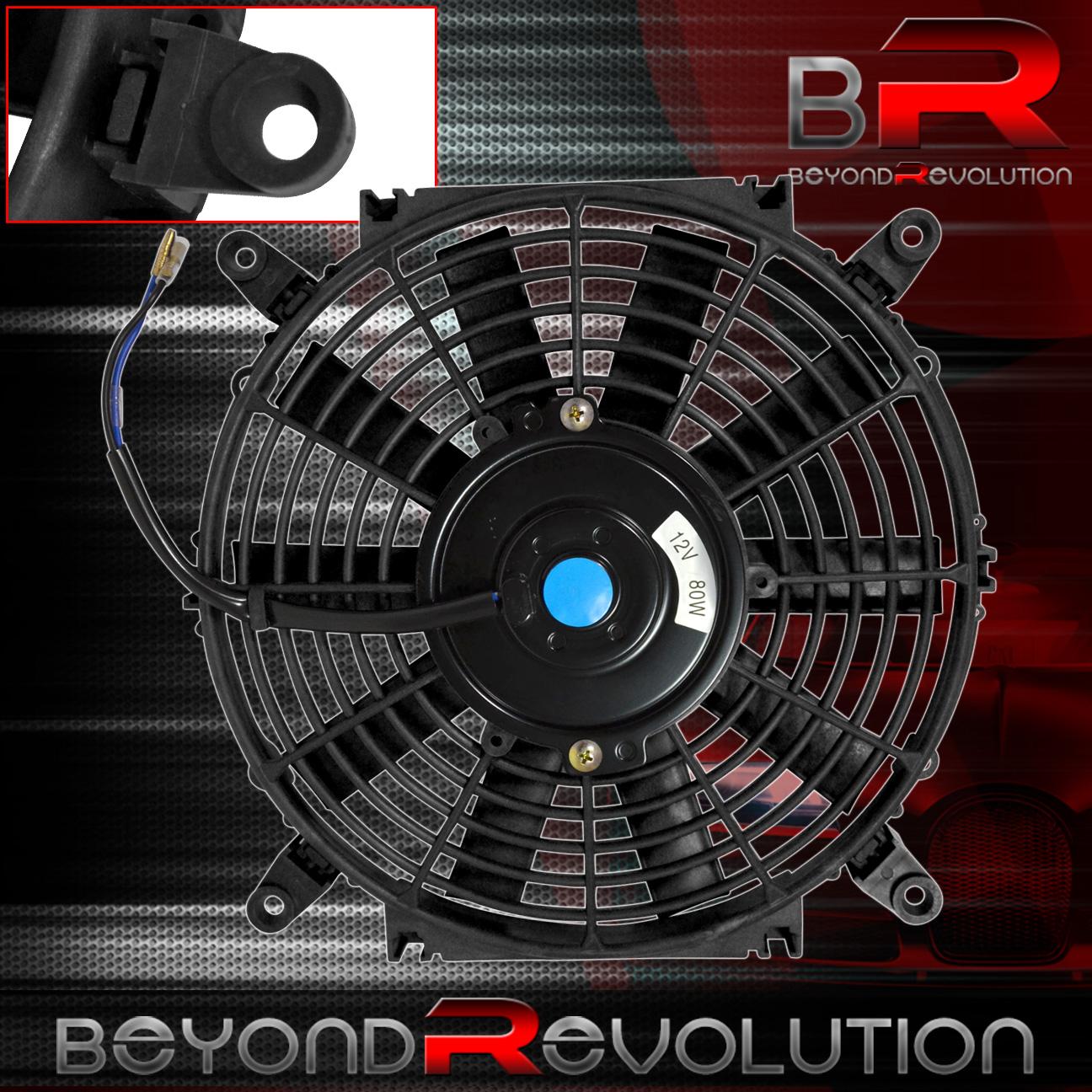 16 Quot 12v Push Pull Slim Black Universal Electric Radiator