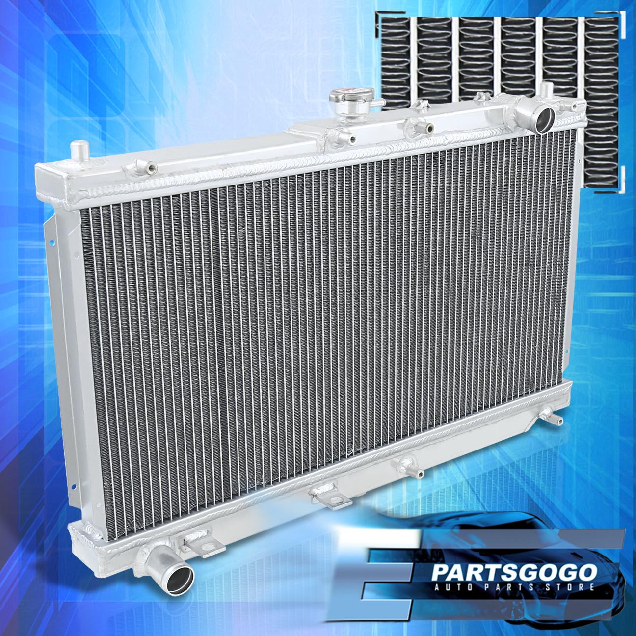 twin core high performance aluminum radiator for mazda miata 99 05 mx5 mt manual ebay. Black Bedroom Furniture Sets. Home Design Ideas