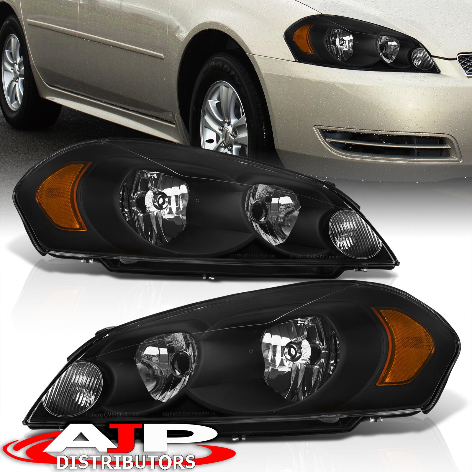 premium aftermarket black headlights for 06 2013 chevy. Black Bedroom Furniture Sets. Home Design Ideas