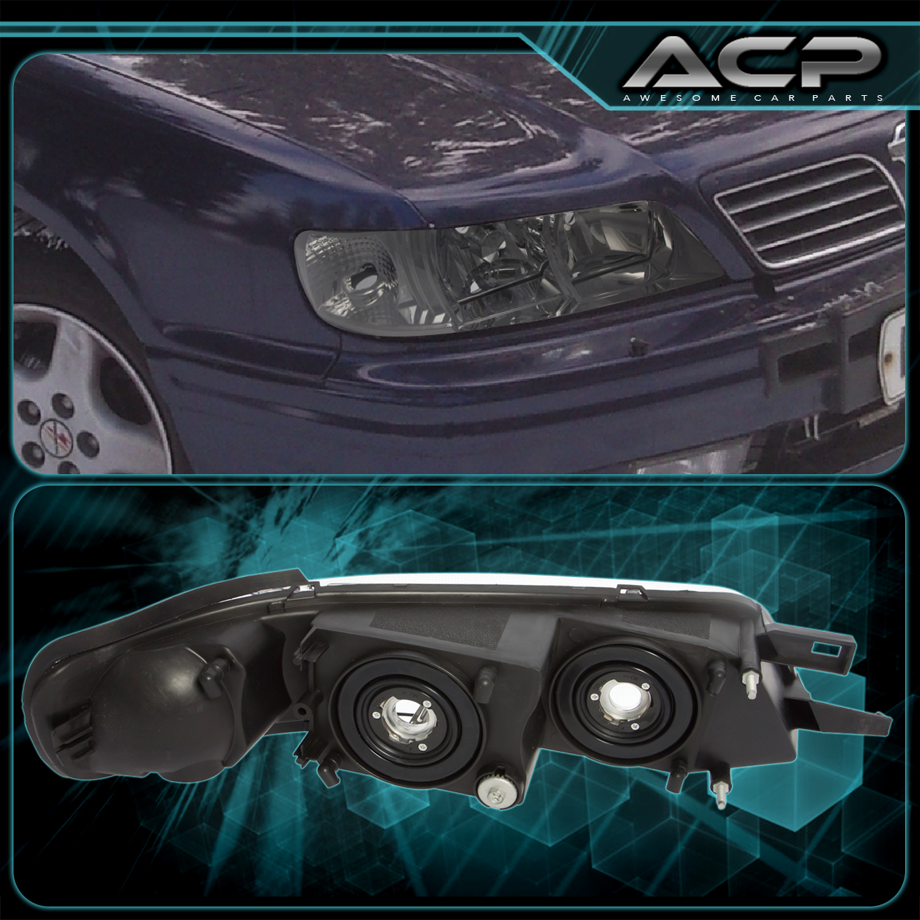 fits 95 99 nissan maxima r34 chrome housing smoked lens. Black Bedroom Furniture Sets. Home Design Ideas