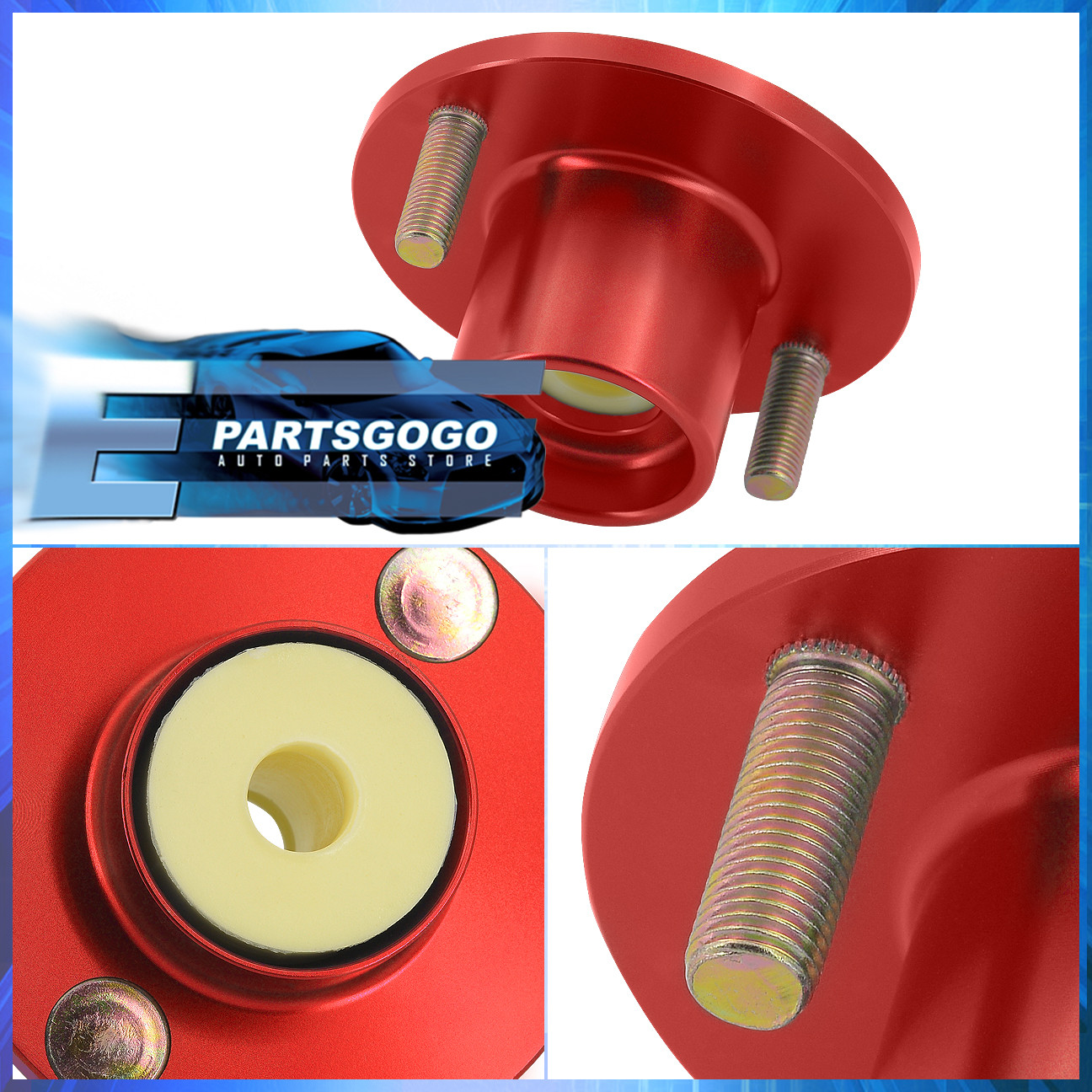 Honda Civic Del Sol Red Aluminum Suspension Coilover Shock