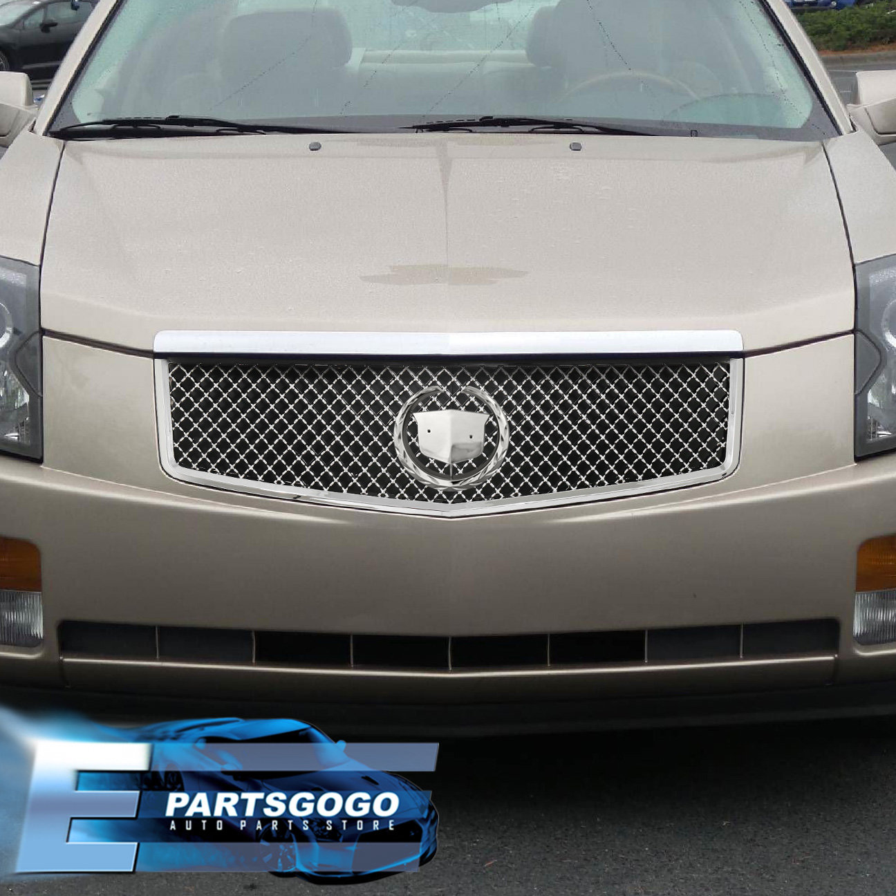 For 2003-2007 Cadillac CTS Front Bumper ABS Upper Grille