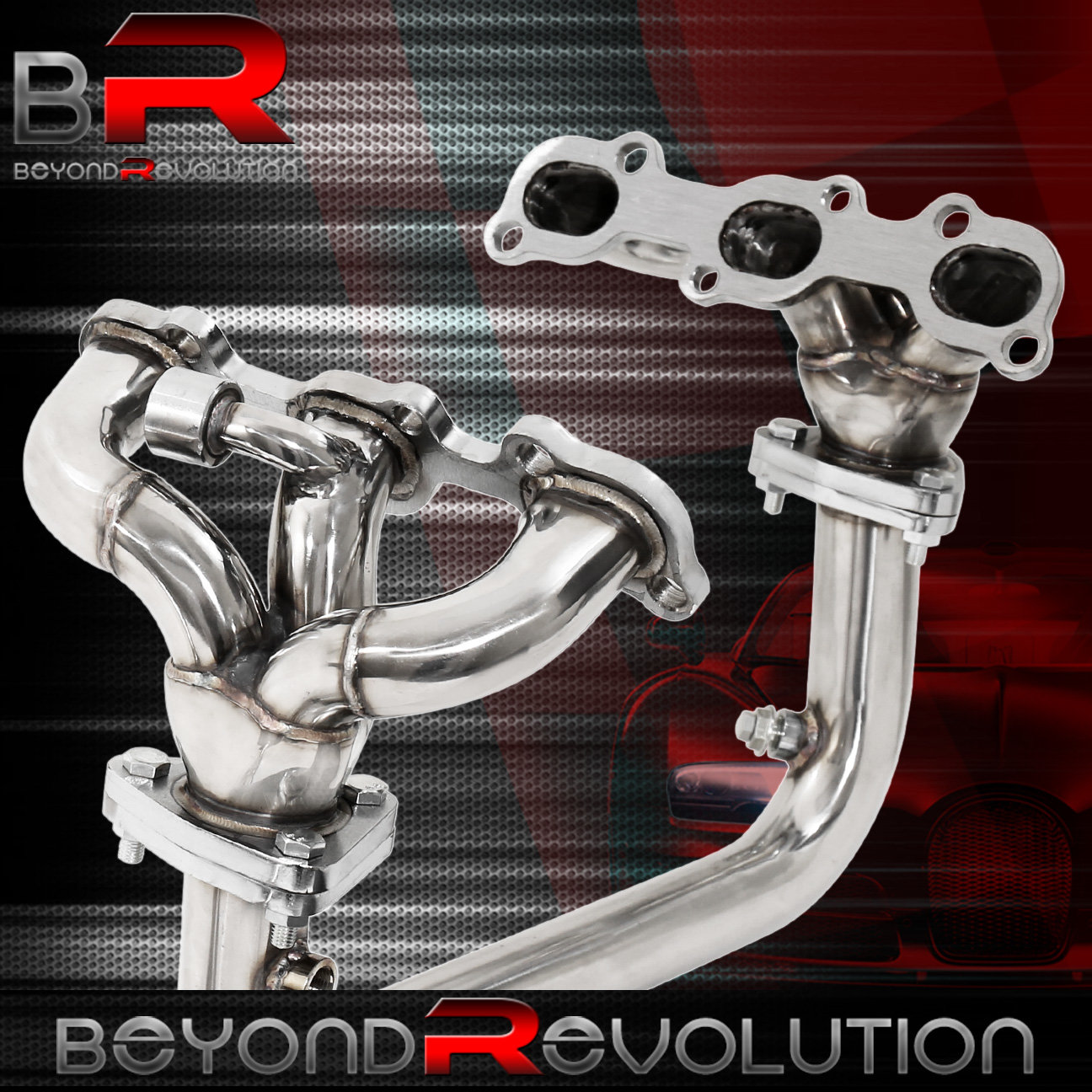 stainless header for 95 99 nissan maxima exhaust manifold. Black Bedroom Furniture Sets. Home Design Ideas