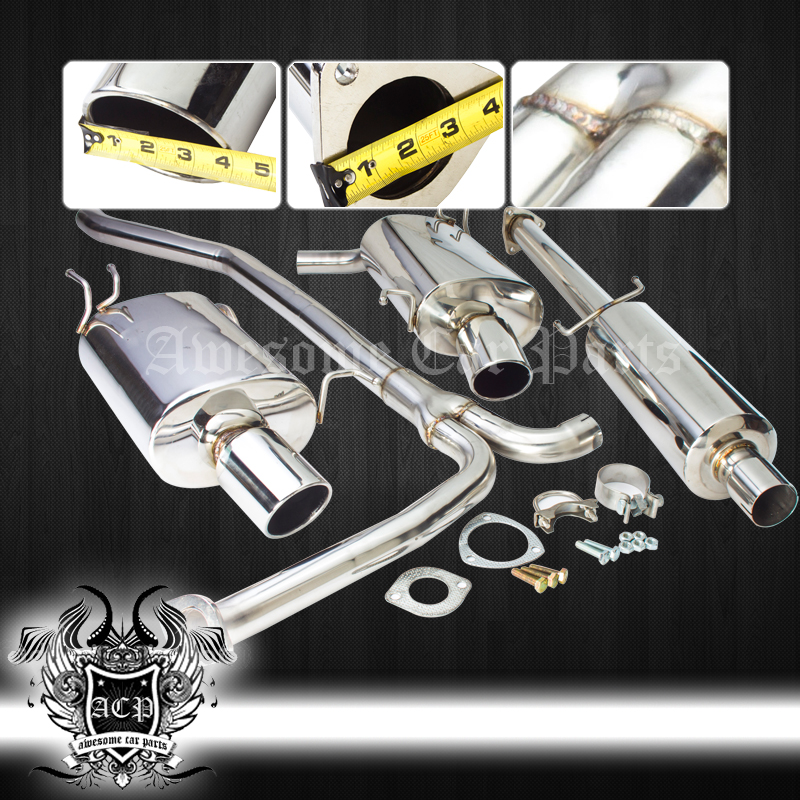 09-14 Acura Tsx 2.4L K24 Racing Dual Stainless Exhaust