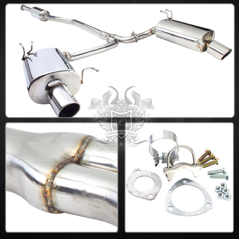 09-14 Tsx 2.4L Euro R K24 Racing Dual Stainless Exhaust