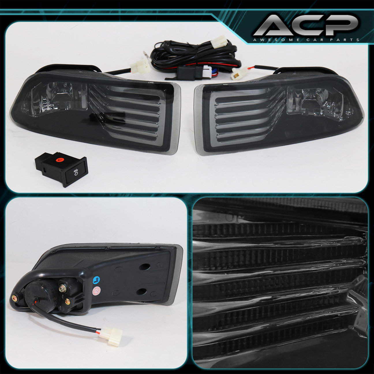 05 10 scion tc jdm smoked lens front driving fog lights lamps wiring switch ebay