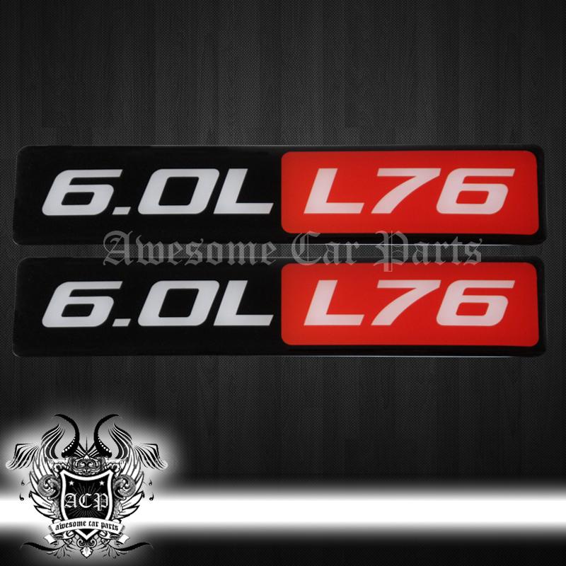 Pontiac 350 Emblem : Pontiac g gt l liter v engine fender hood emblems