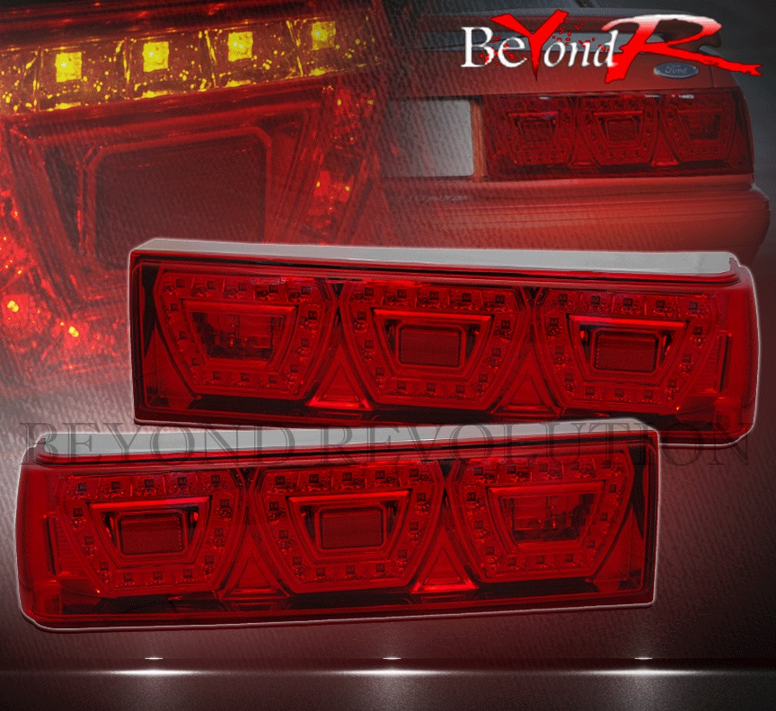 87 93 ford mustang 1pc led brake stop turn signal tail. Black Bedroom Furniture Sets. Home Design Ideas