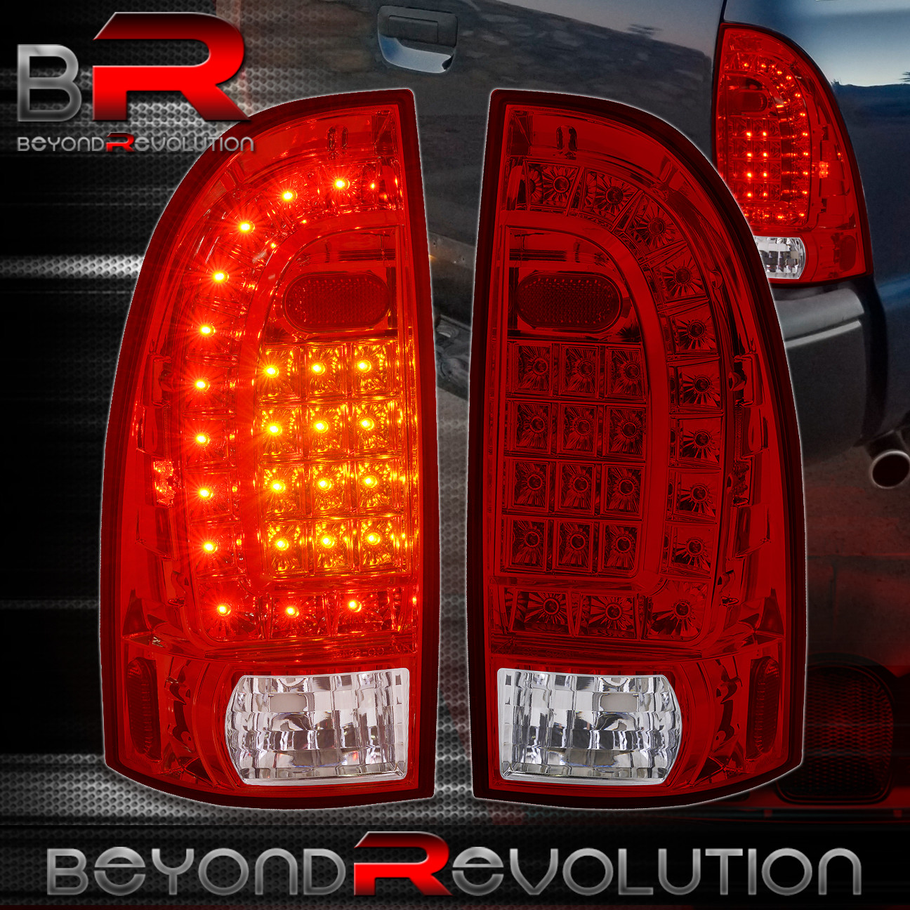 05 15 toyota tacoma led tail lights lamp housing red clear. Black Bedroom Furniture Sets. Home Design Ideas