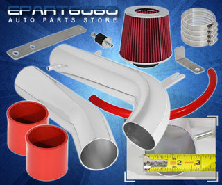 """Filter For 95-02 Accord V6 2.7L//3.0L 3/"""" JDM RED Cold Air Intake Induction Kit"""