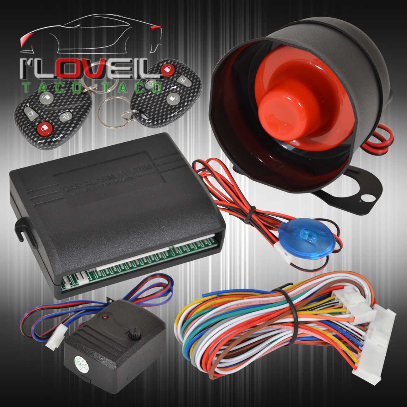New Chevy Gmc Ford Security Remote Car Alarm System   2