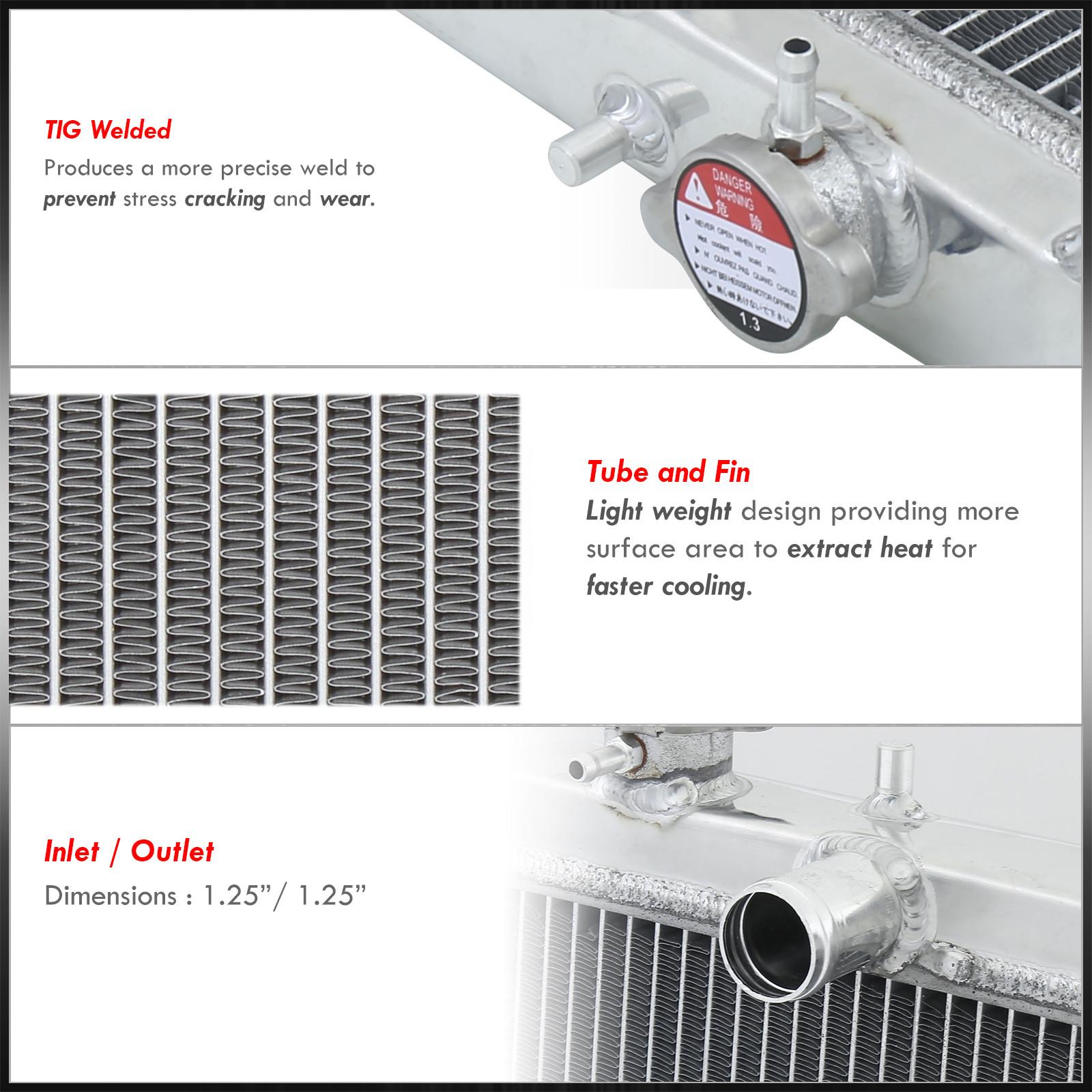honda civic dxlxexsi mt trans dual core aluminum racing radiator ebay