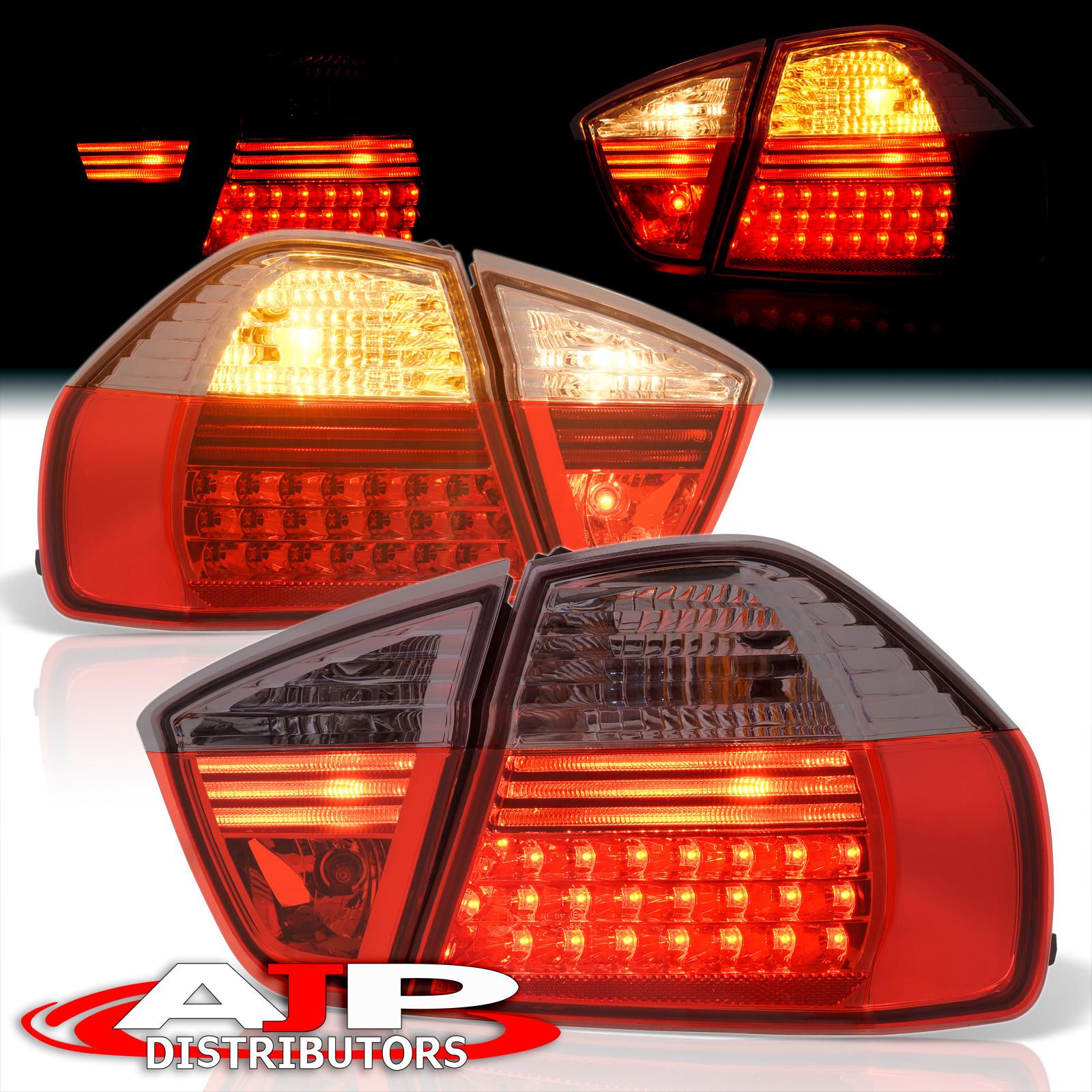 05 06 07 BMW 3-SERIES SEDAN E90 LED TAIL LIGHTS BLK/RED