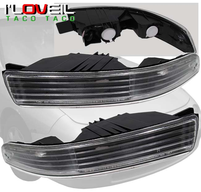 1994-1997 ACURA INTEGRA LS RS GS JDM BLACK/CLEAR BUMPER