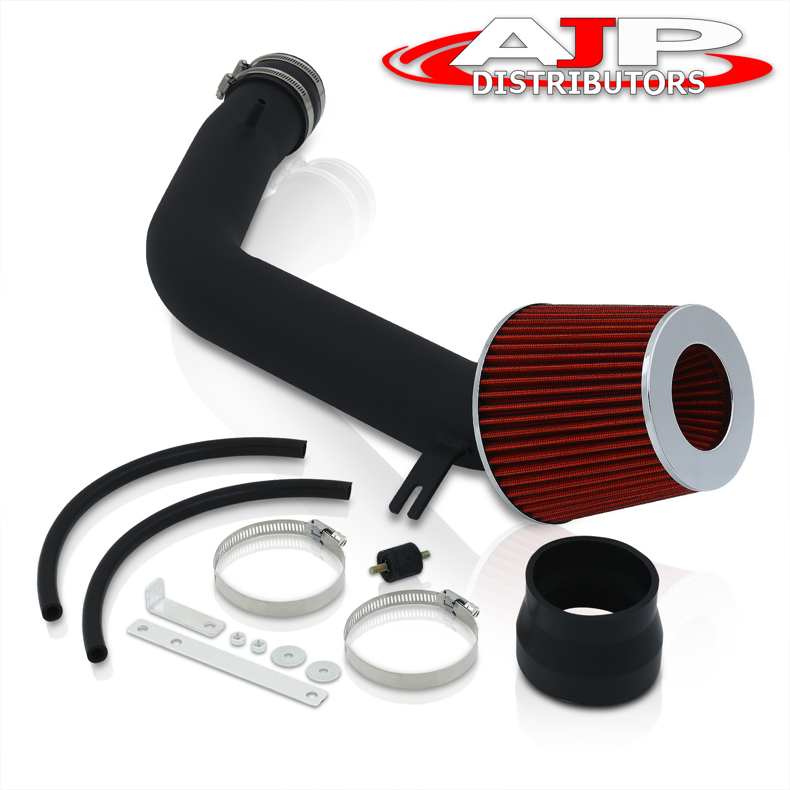 2003 2007 honda accord v6 3 0l jdm cold air intake piping kit system pipe black ebay. Black Bedroom Furniture Sets. Home Design Ideas