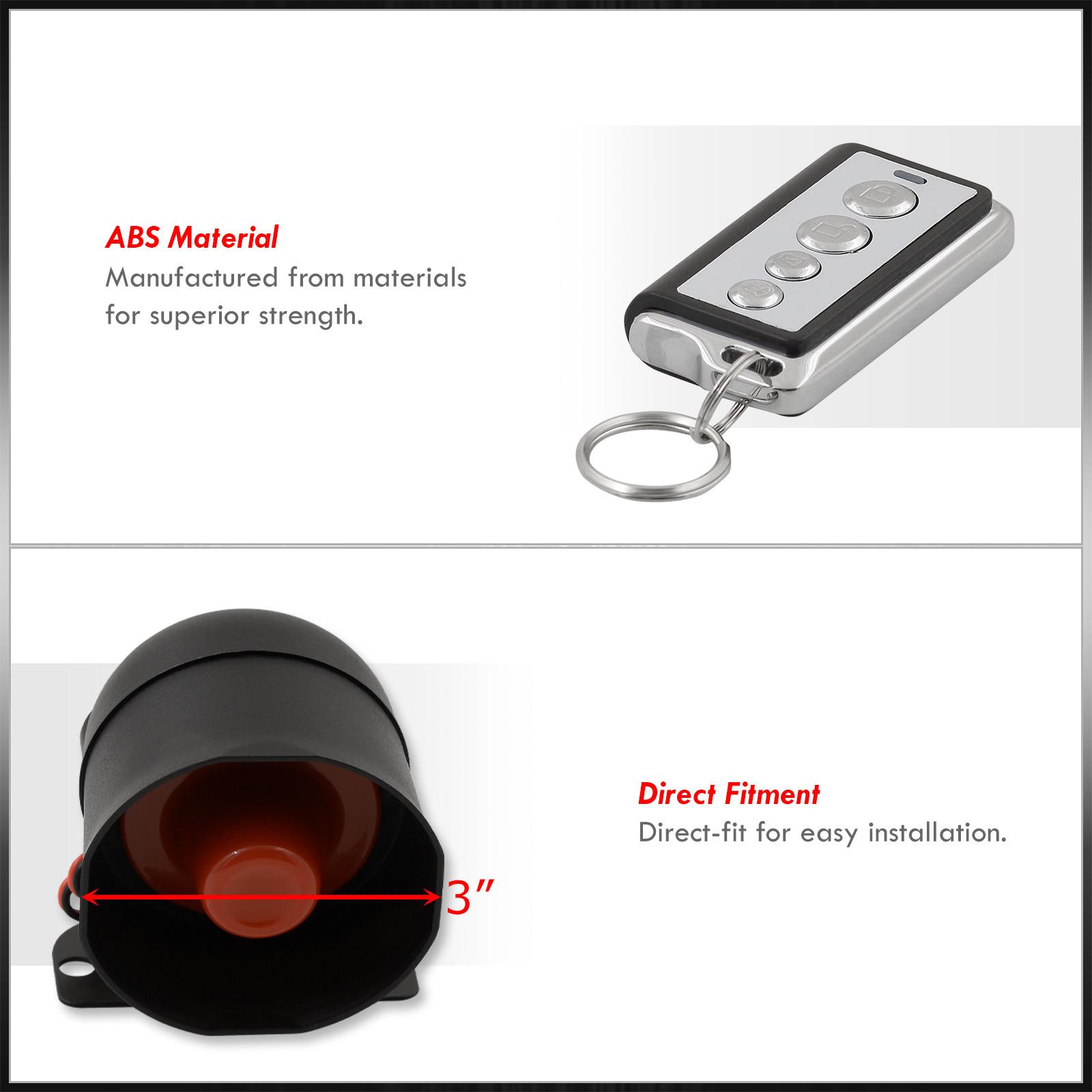 Jdm Remote Engine Start Car Alarm Security System W   Wiring Celica Mr2 Corolla