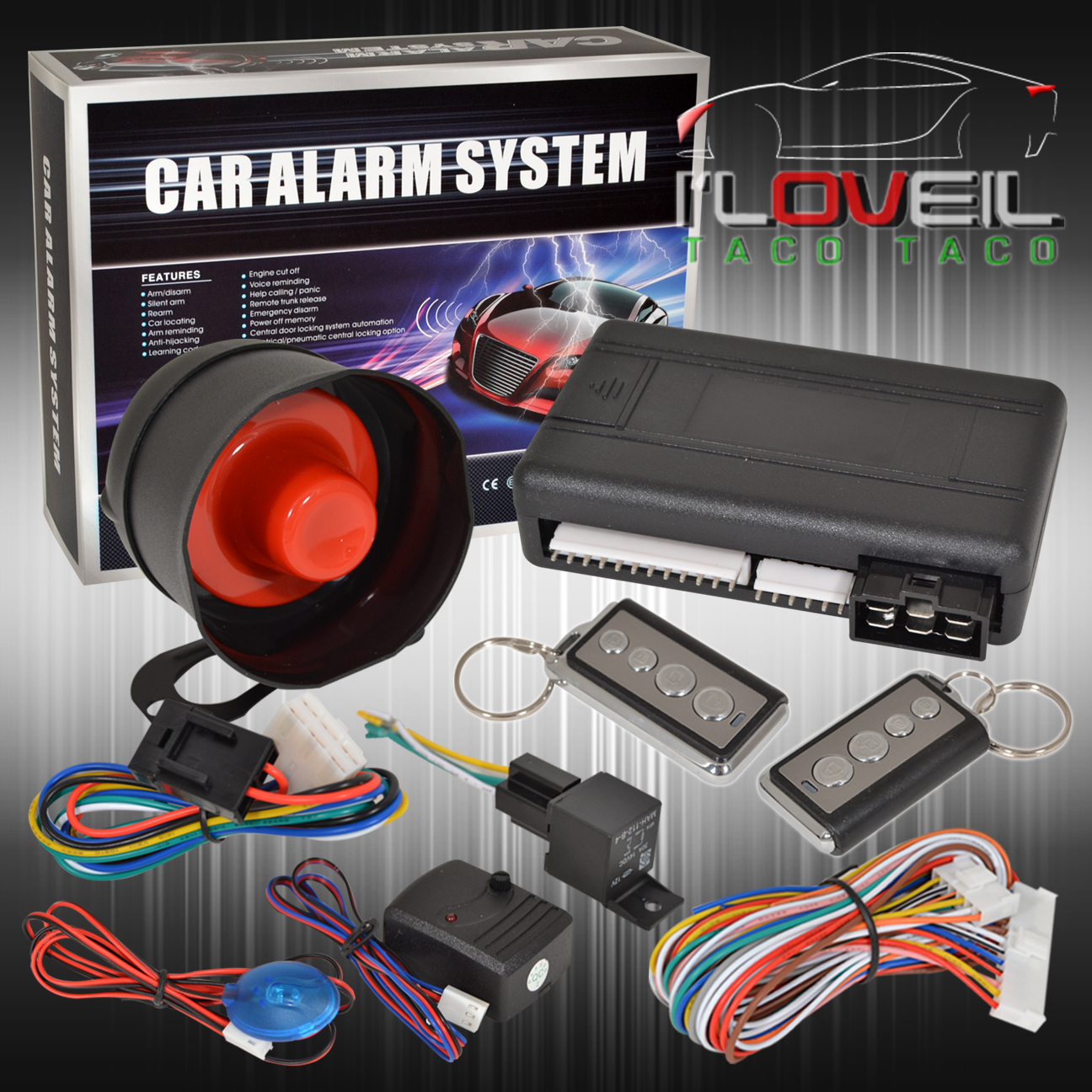 jdm remote engine start car alarm security system w. Black Bedroom Furniture Sets. Home Design Ideas