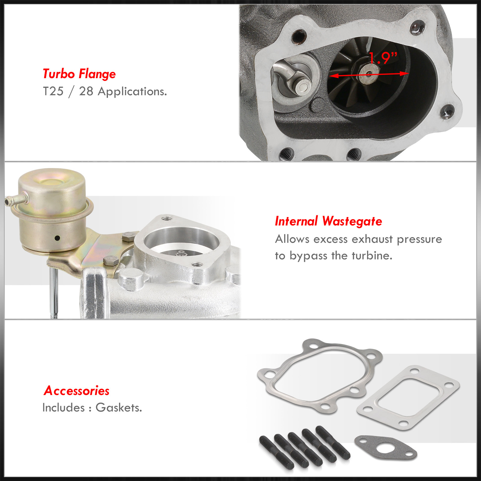 300zx Turbo Replacement Without Pulling Engine: T25 T25/T28 Turbo + Internal Wastegate Actuator For All