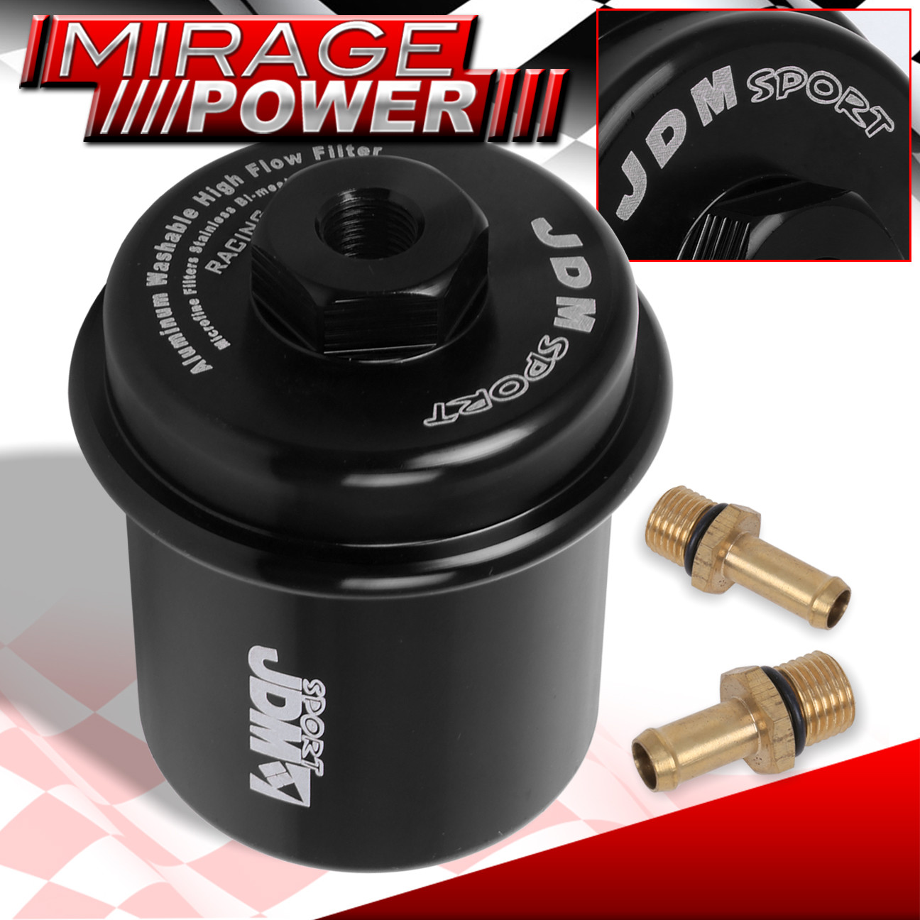 JDM SPORT HIGH FLOW RACING FUEL FILTER HONDA ACURA CIVIC