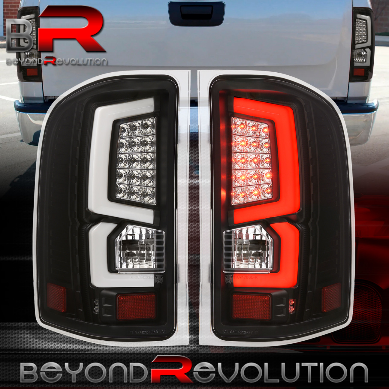07 13 chevy silverado truck 1500 led brake stop tail lights lamps unit. Black Bedroom Furniture Sets. Home Design Ideas