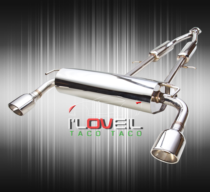 Used Turbo G35: JDM STAINLESS EXHAUST CATBACK SYSTEM DUAL MUFFLER FOR 07