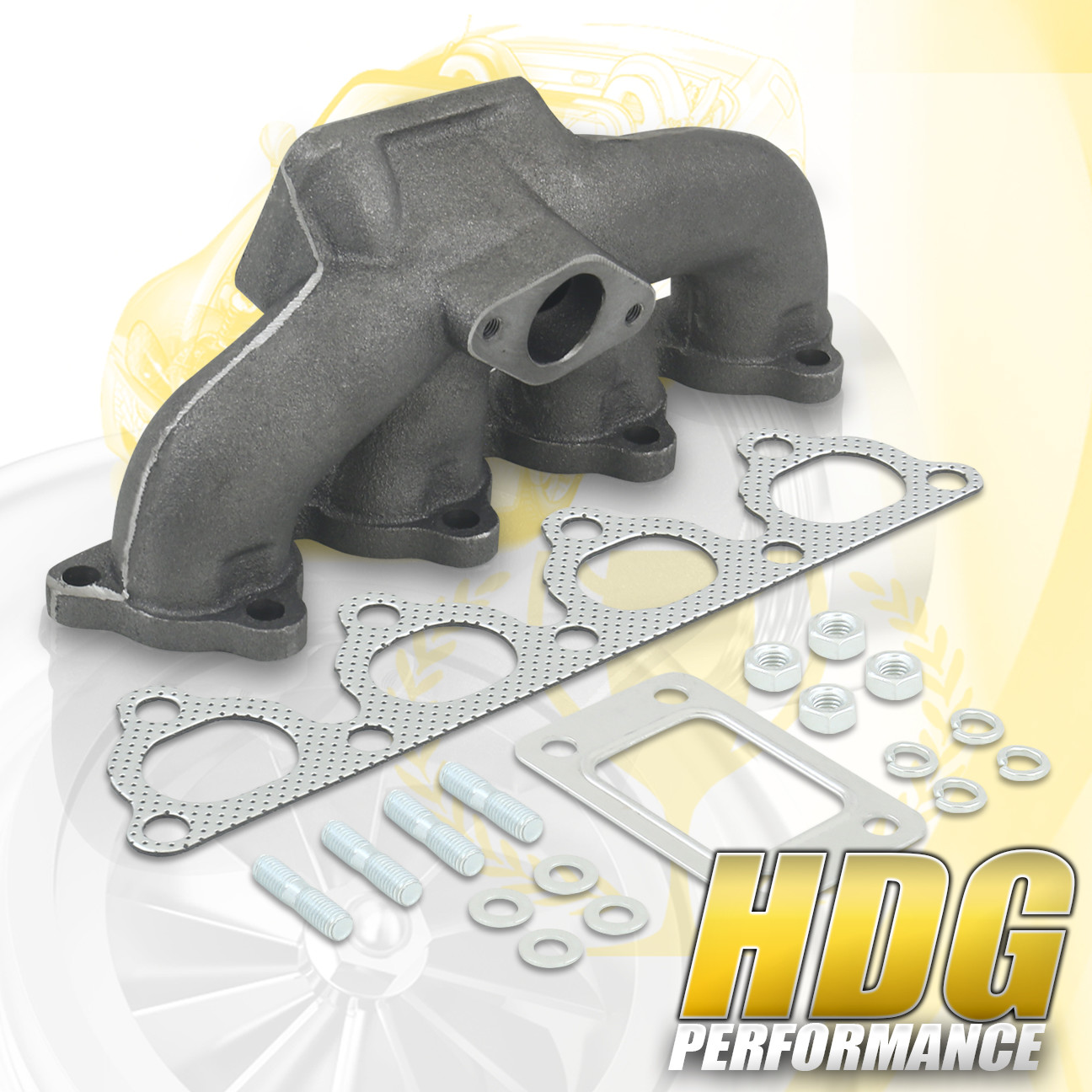 D15 D16 SOHC D-Series T3/T4 Cast Iron Turbo Manifold 38mm
