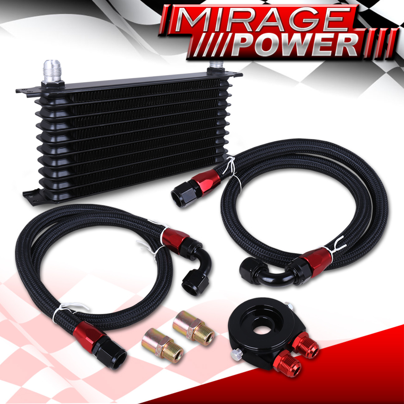 Engine Oil Cooler Works : An row engine diff trans oil cooler cooling adapter