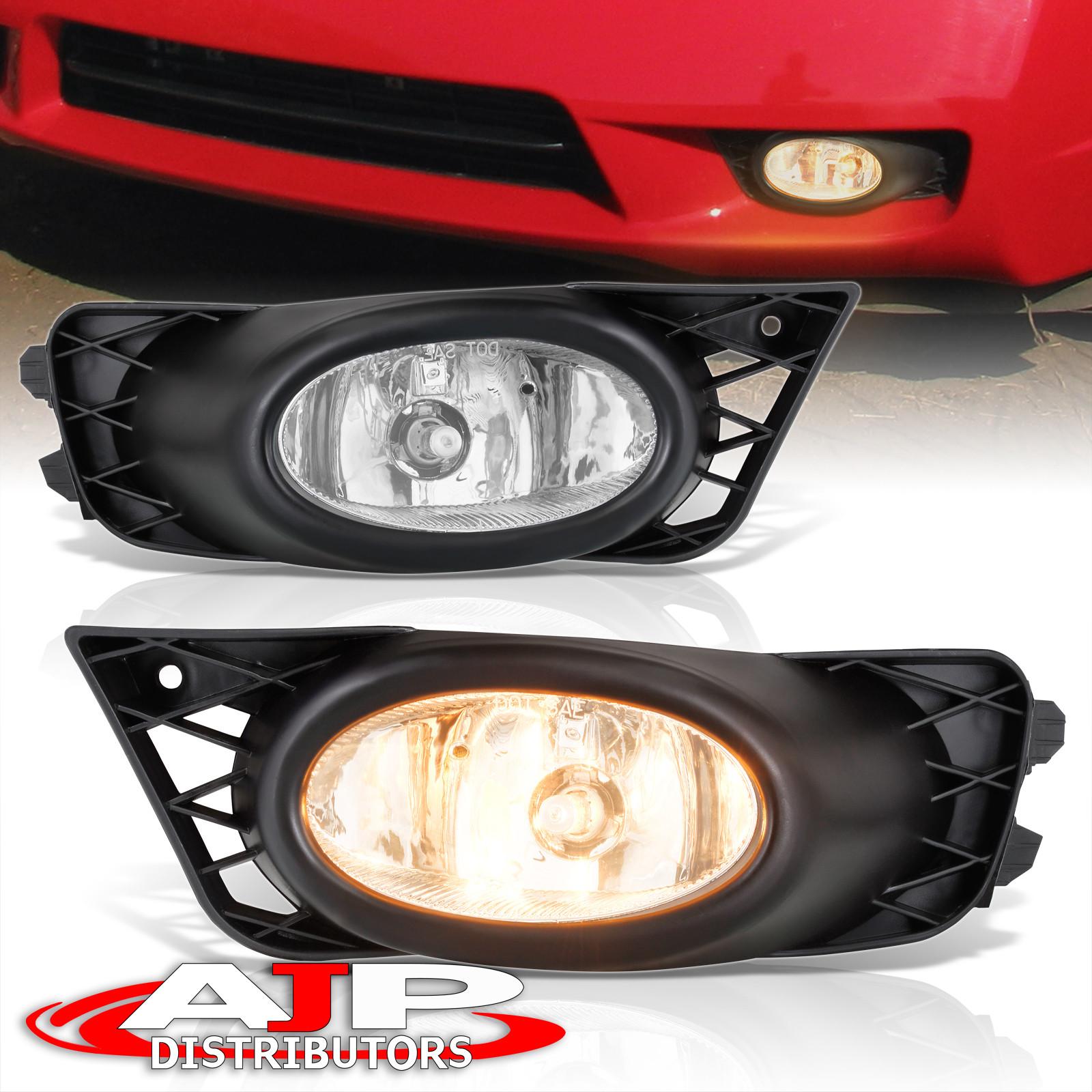 2009 2011 Honda Civic Sedan 4dr Jdm Clear Lens Fog Light Set Pair W   Wiring