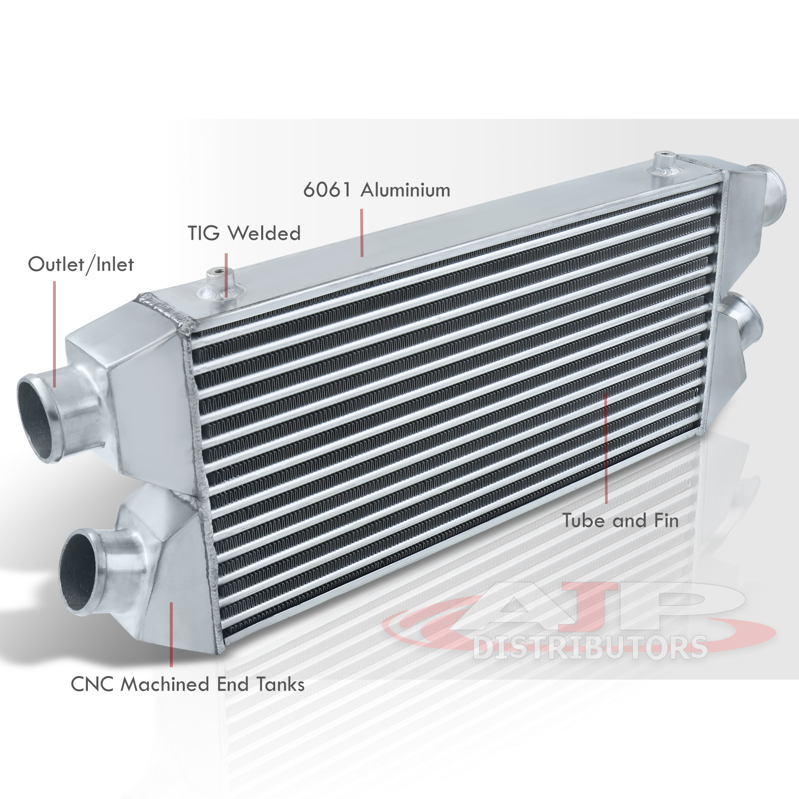 """Dual Core Aluminum High Flow Front Mount Intercooler Fmic 30/""""X11/""""X3/"""" In//Out"""