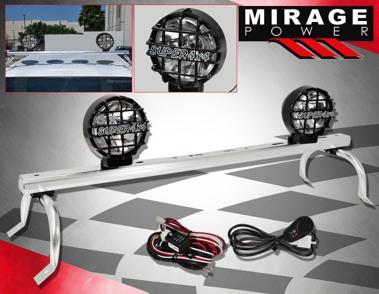 4X4 Adjust Roof Fog Head Driving Head Light Lamp Offroad Mounting Rack Rail Bar
