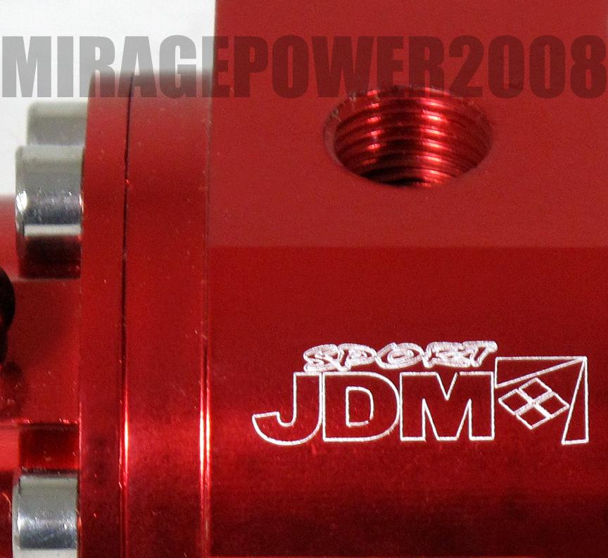 JDM Sport Turbo New High Pressure Adjustable Fuel Injection Rail Regulator 1:1