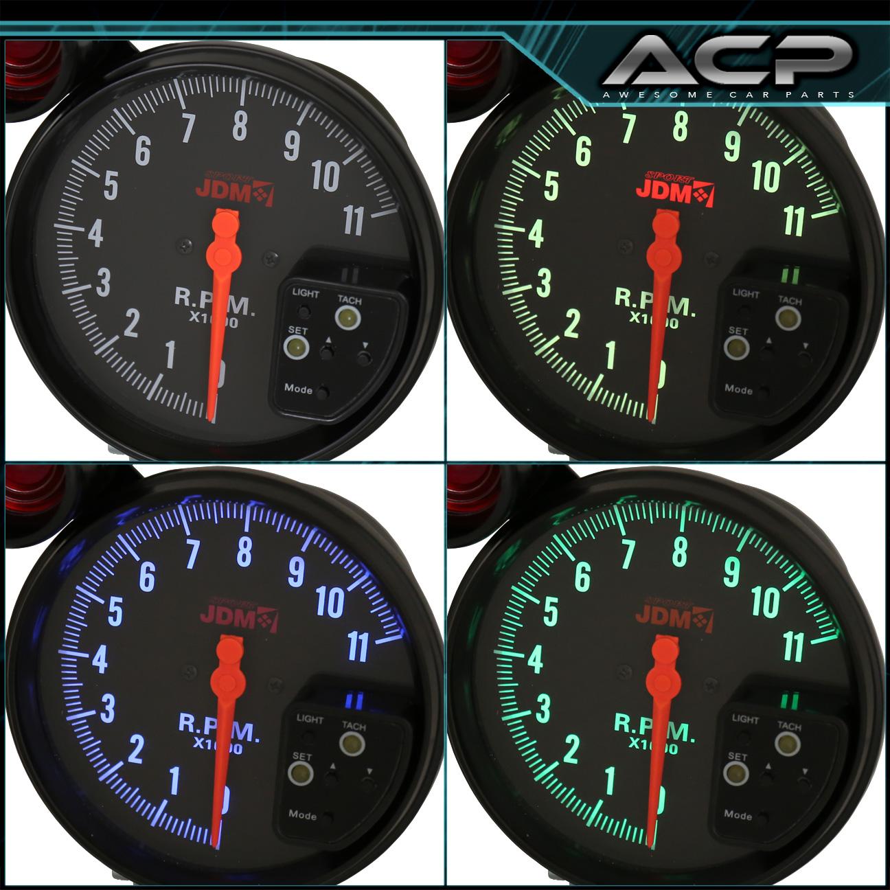 "Rx7 Engine Temp: Performance Race 5"" Tachometer 7 Led Display + Shift Light"