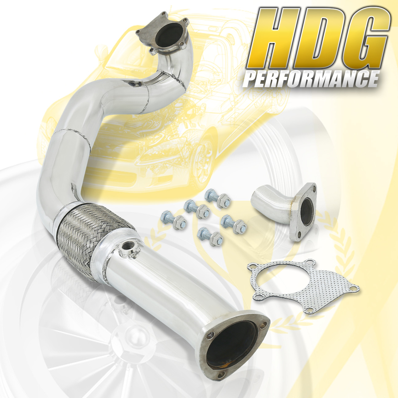 """Performance 3"""" Stainless Steel T3 T4 Turbo Down Pipe For"""
