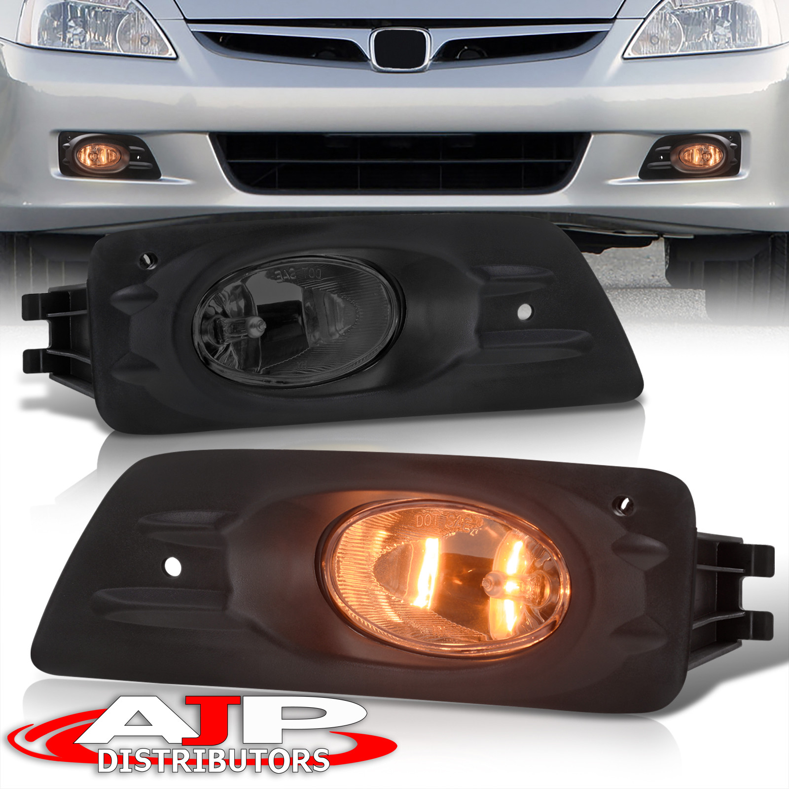 Smoked Jdm Fog Lights Lamps   Wiring Harness Switch For