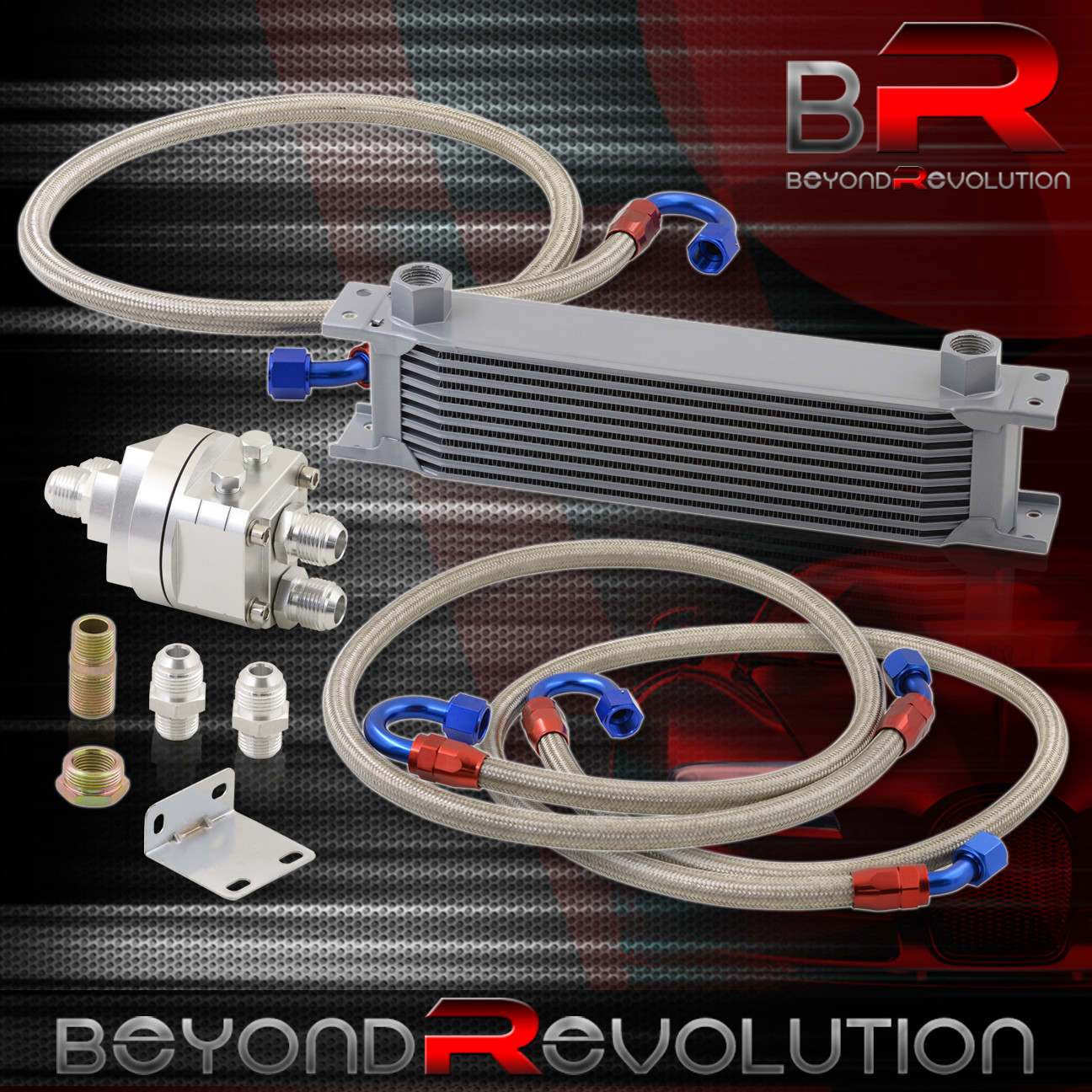 Rear Differential Cooler : Rear diff differential high flow oil cooler filter