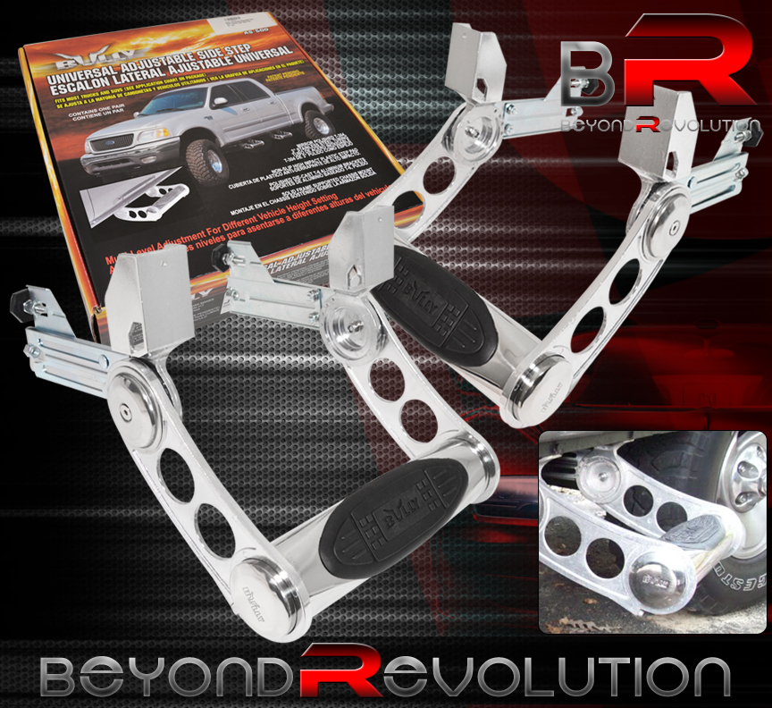 Bully Truck//SUV Door Side Step T-304 SS Multi-Level Adjustment AS-500S
