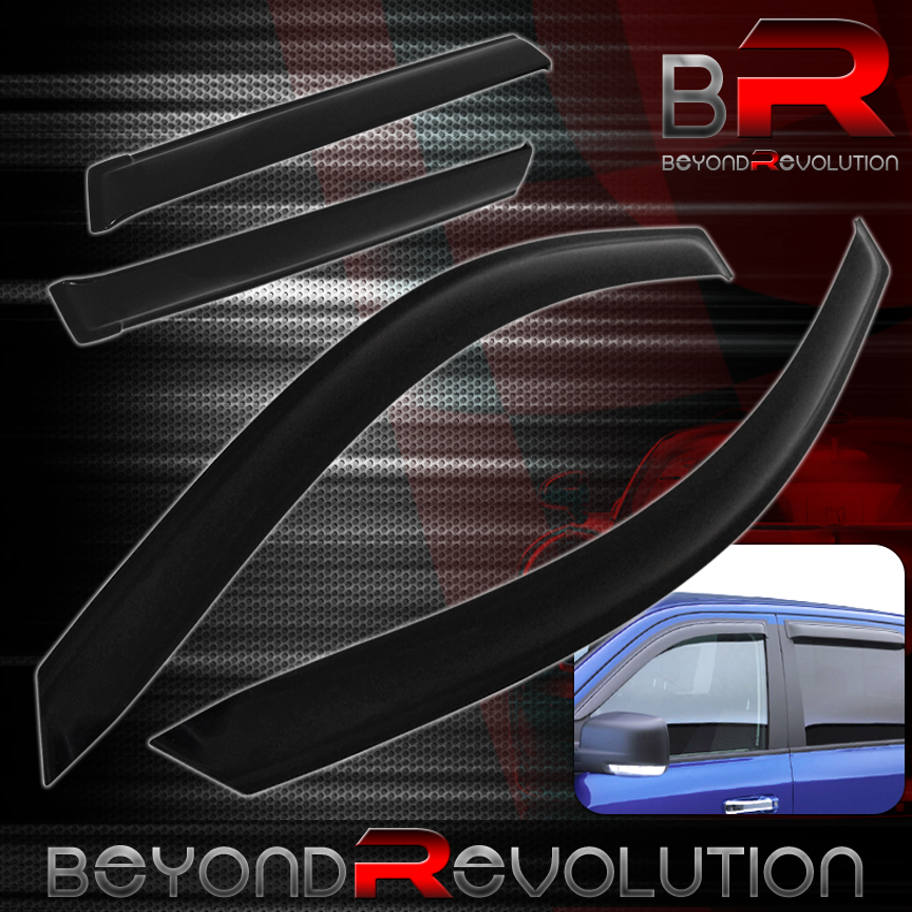 Visors Wind Deflector 4pcs For Toyota Matrix 03 04 05 06 07 08 4-DR Wagon XR XRS