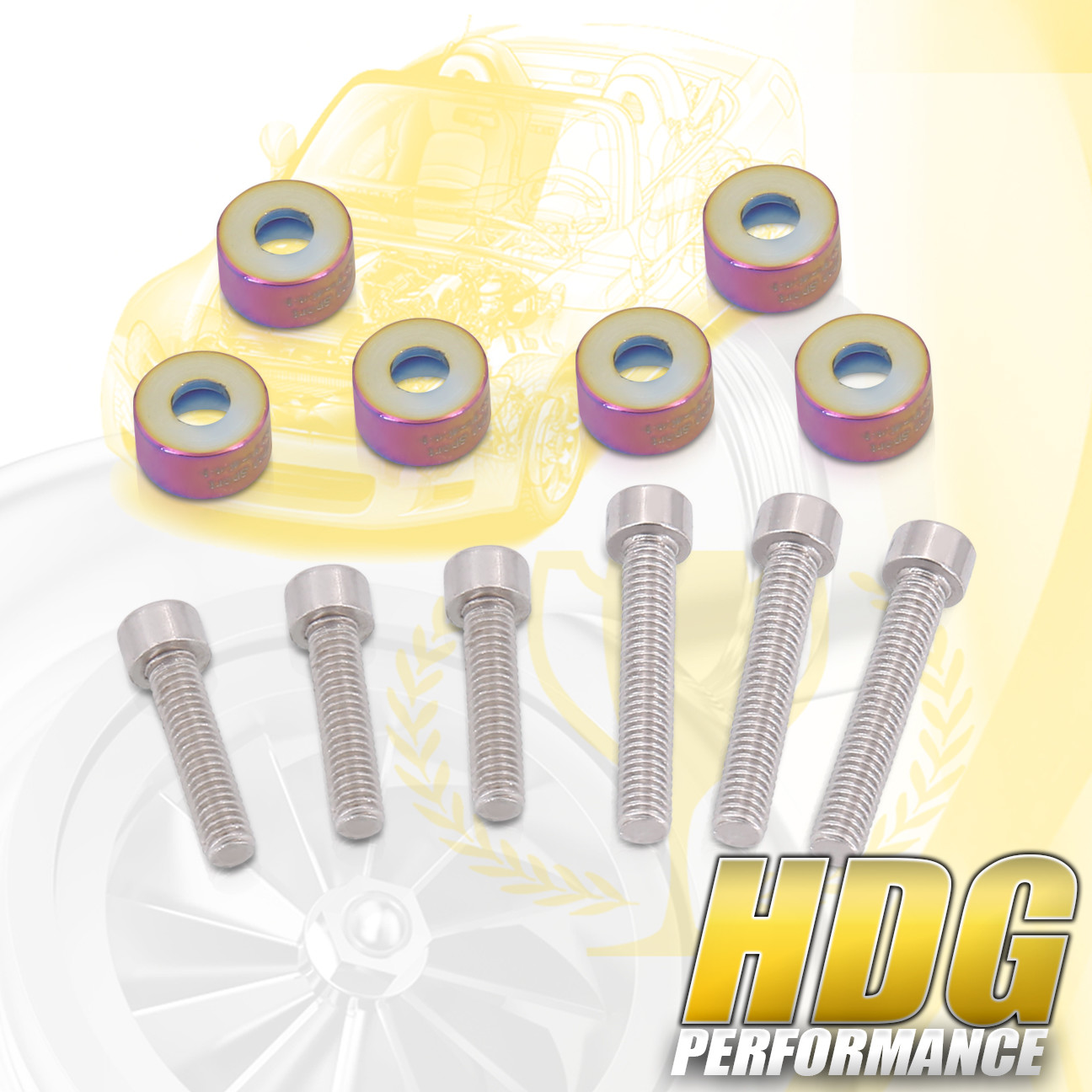 B-SERIES D-SERIES F-SERIES H-SERIES M6 VTEC ENGINE SOLENOID BOLT CUP WASHER NEO