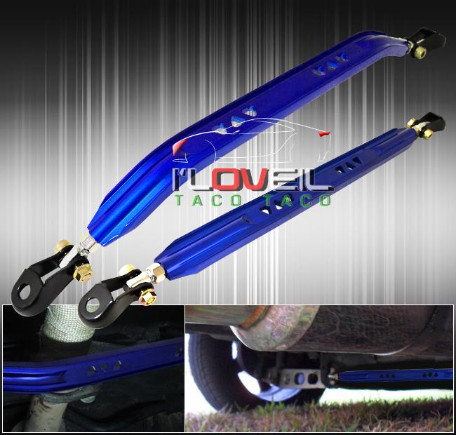 93-97 Mazda Mx6 Ford Probe Rear Lower Tie Bar Brace Strut Rod Arm Kit Jdm Blue