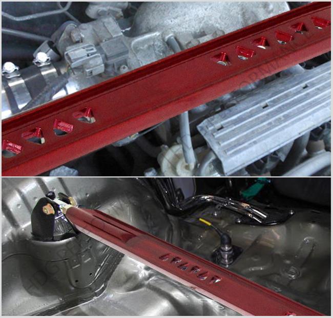 93-1997 Ford Probe Mazda Mx6 V6 Tower Front Rear Upper Bar Brace Tie Strut Red