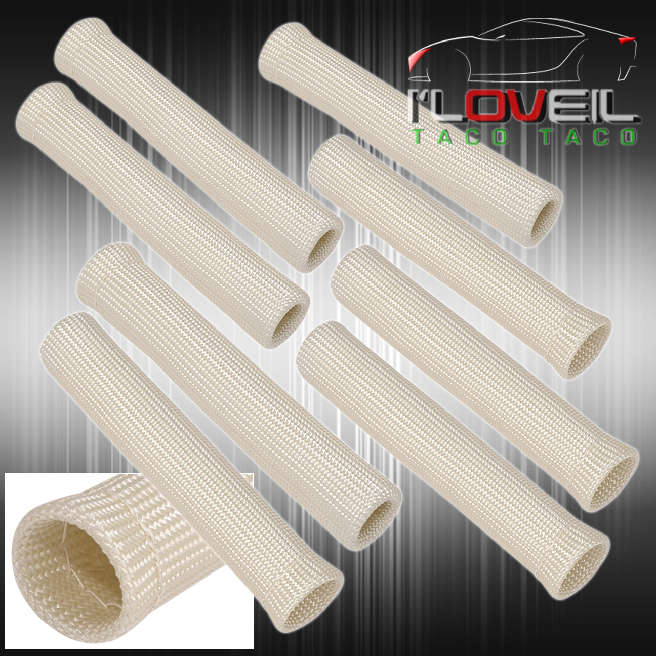 FOR NISSAN X8 SLIP ON SPARK PLUG WIRE HEAT SLEEVE INSULATION WRAP ...