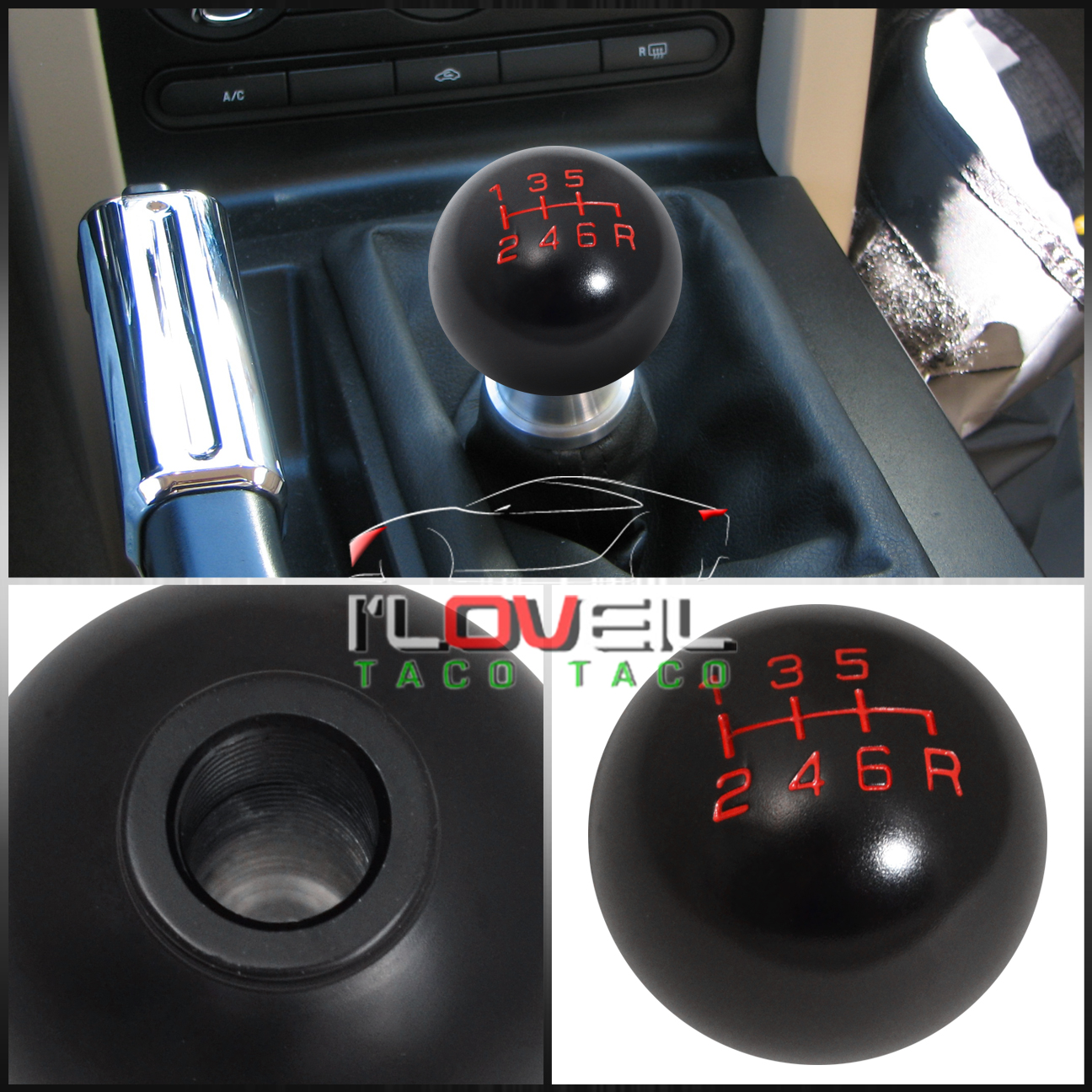 for dodge 8x1 25mm 6spd gear shift knob threaded a t 88769