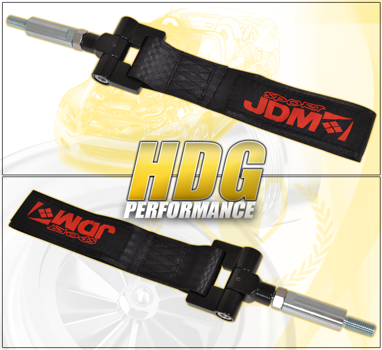 Details about FIT NISSAN 350Z 04-07 FRONT REAR BUMPER TOW STRAP HOOK BLACK  + THREADED ADAPTER