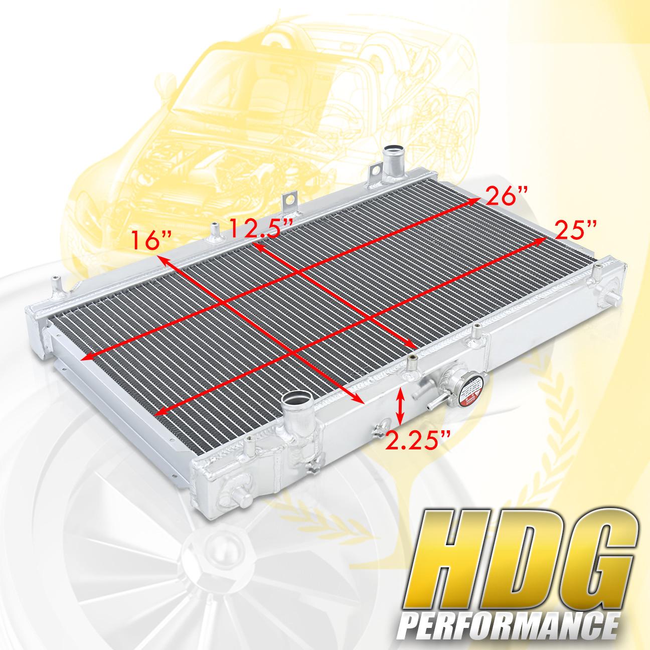 Jdm Dual Core Manual Transmission Aluminum Radiator For 99-05 Mx5 Mt Mazda Miata