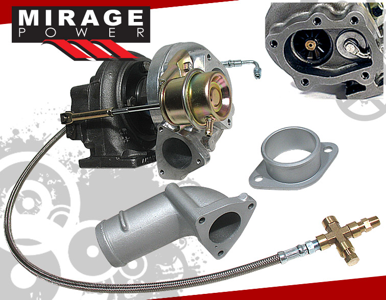 Details about T25/T28 TURBO CHARGER+INLET/OUTLET ADAPTER PIPE+OIL FEED LINE  FOR 240SX SR20