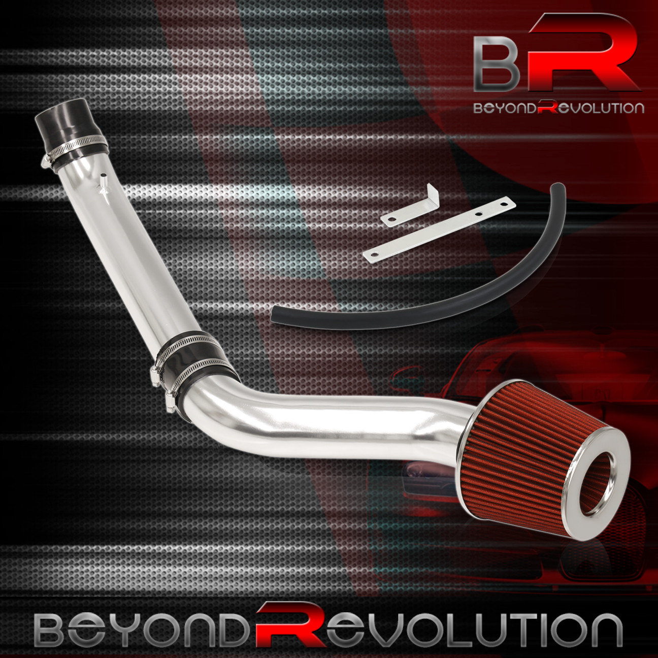 BLACK COLD INDUCTION AIR INTAKE+DRY FILTER FOR HONDA 92-95 Civic//93-97 Del Sol