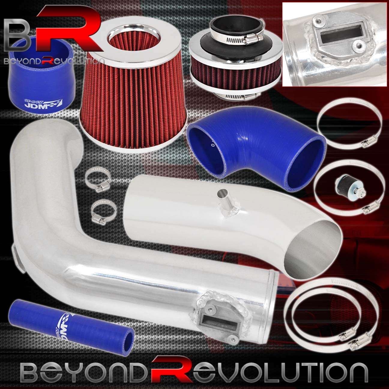 BCP RED For 2002-2006 Altima 2.5L L4 Cold Air Intake Induction Kit